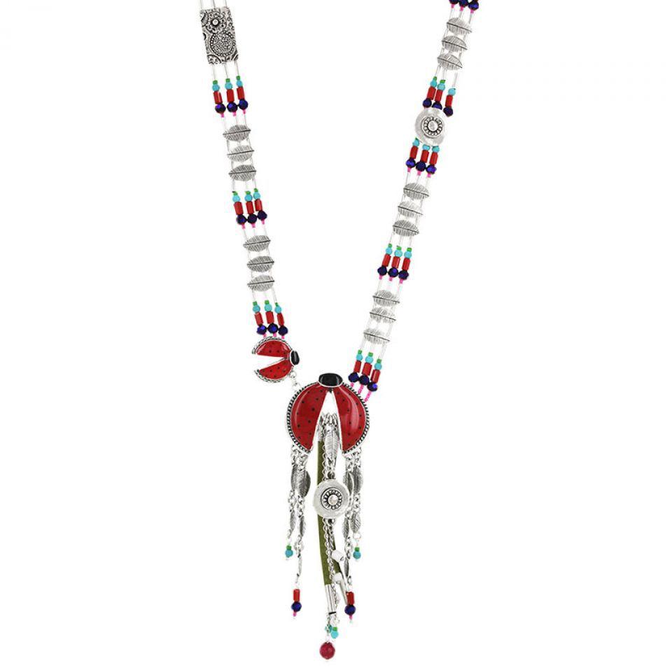 Collier Ladybird Argent Rouge Taratata Bijoux Fantaisie en ligne 1