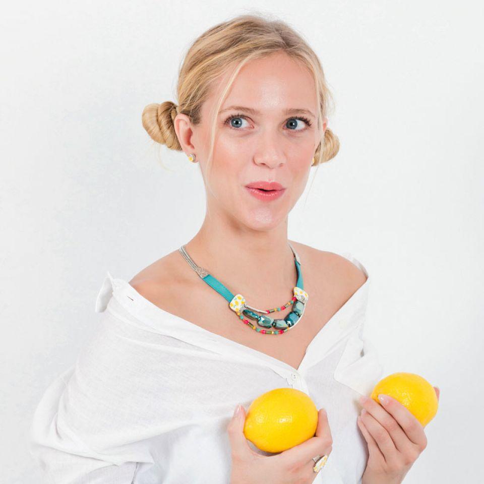 Collier Lemon Argent Multi Taratata Bijoux Fantaisie en ligne 1
