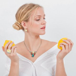 Collier Lemon Argent Multi