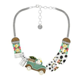 Collier Marguerite Argent Multi