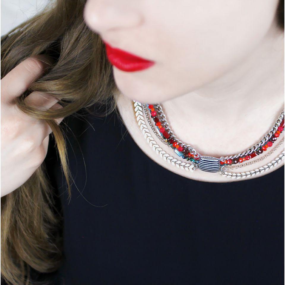 Collier Panam Argent Multi Taratata Bijoux Fantaisie en ligne 2