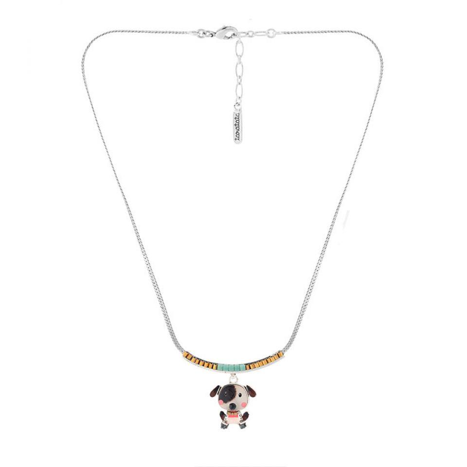 Collier Puppy Couleur Argent Blanc Taratata Bijoux Fantaisie en ligne 3