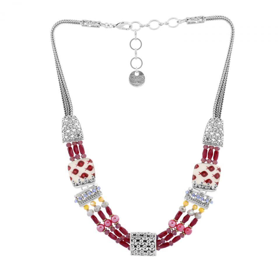 Collier Ravissante Argent Rouge Taratata Bijoux Fantaisie en ligne 1