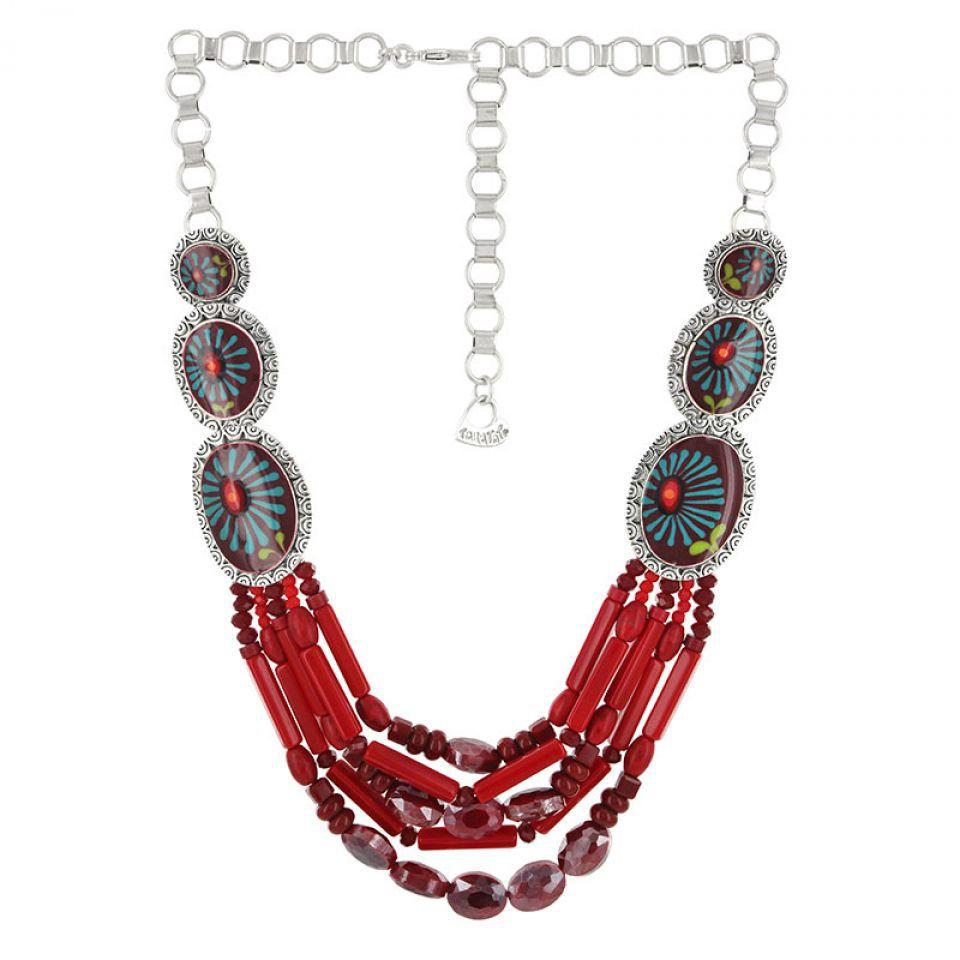 Collier Ruby Argent Rouge Taratata Bijoux Fantaisie en ligne 2