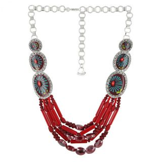 Collier Ruby Argent Rouge