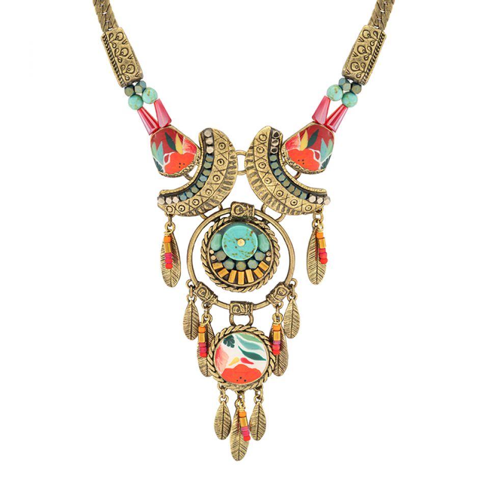Collier Sombrero Bronze Multi Taratata Bijoux Fantaisie en ligne 2