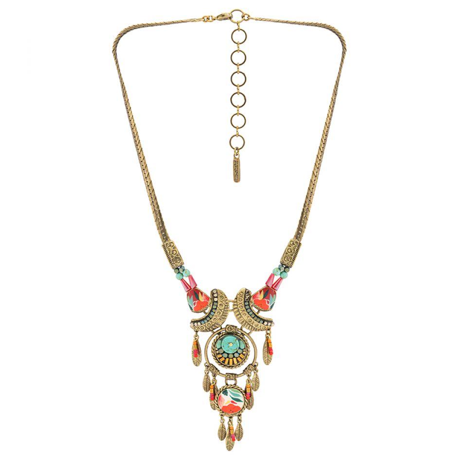 Collier Sombrero Bronze Multi Taratata Bijoux Fantaisie en ligne 3