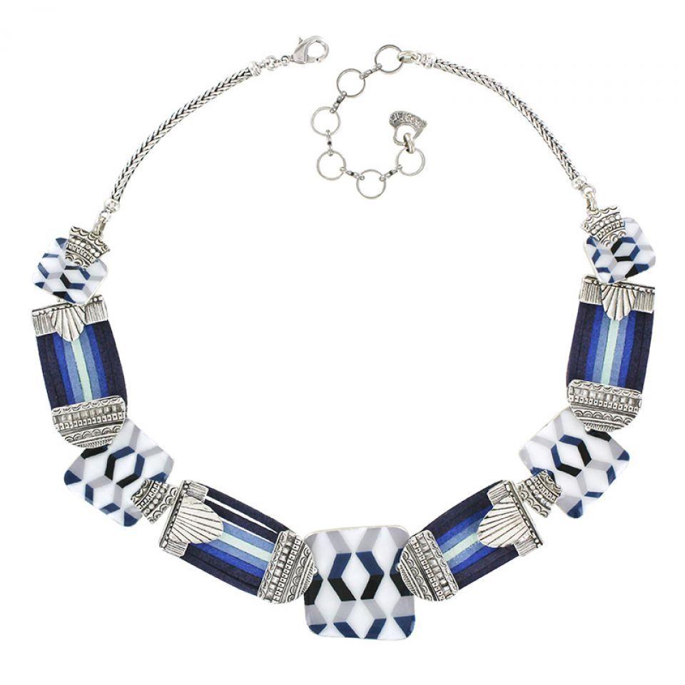 Collier Spleen Argent Bleu Taratata Bijoux Fantaisie en ligne 2