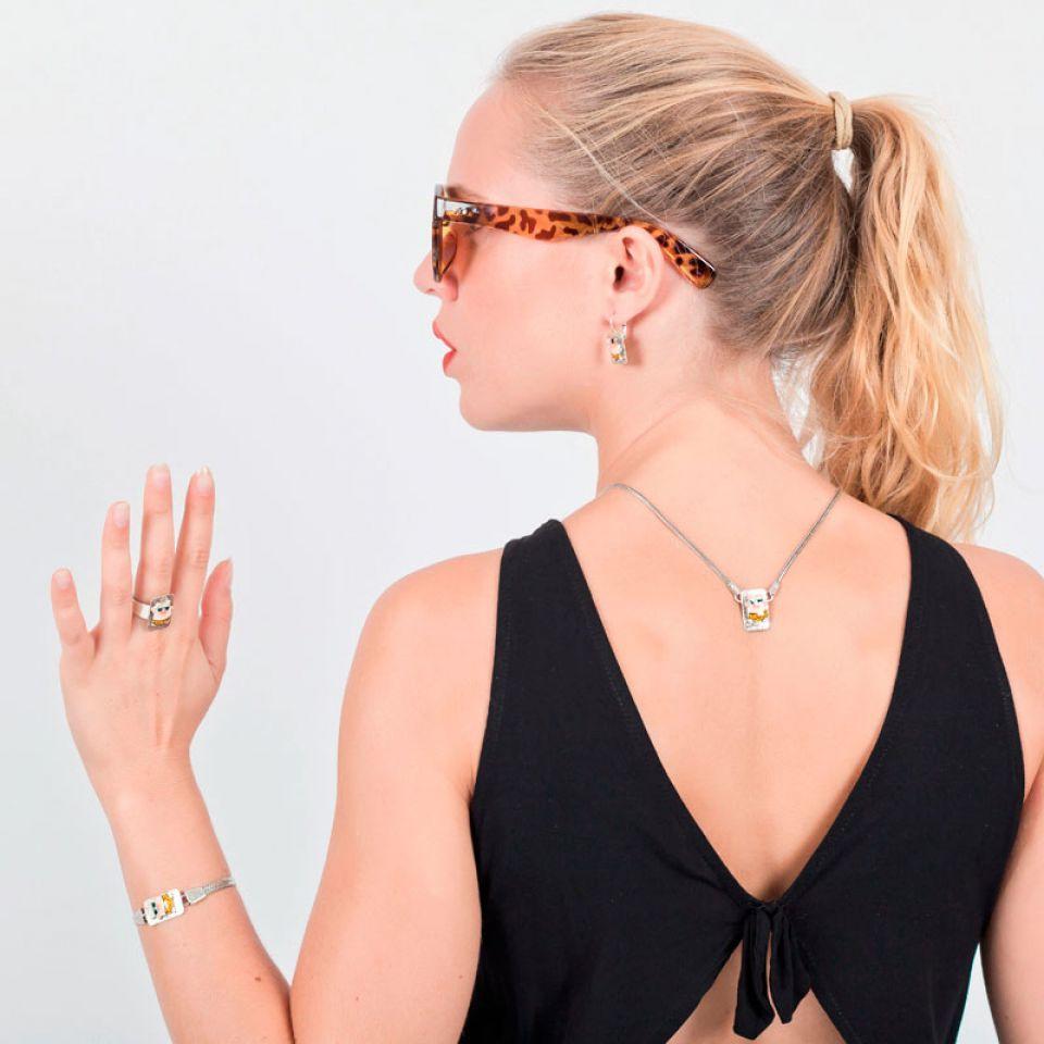 Collier Taraboum Argent Multi Taratata Bijoux Fantaisie en ligne 1