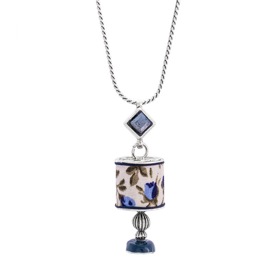 Collier Jalousie Argente Bleu Taratata Bijoux Fantaisie en ligne 2