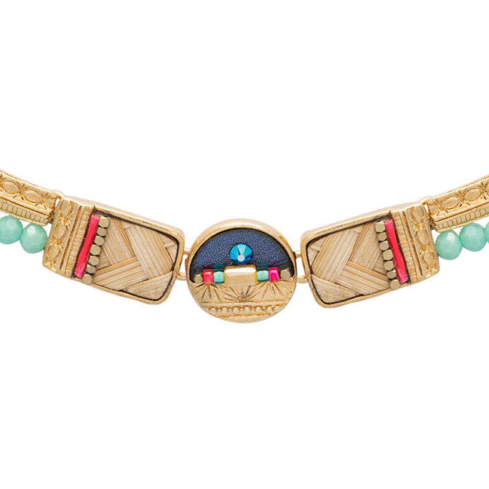Collier Terre De Feu Dore Multi Taratata Bijoux Fantaisie en ligne 3