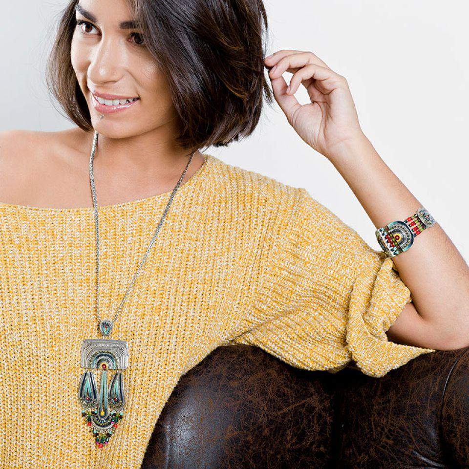 Collier Zamba Argent Multi Taratata Bijoux Fantaisie en ligne 2