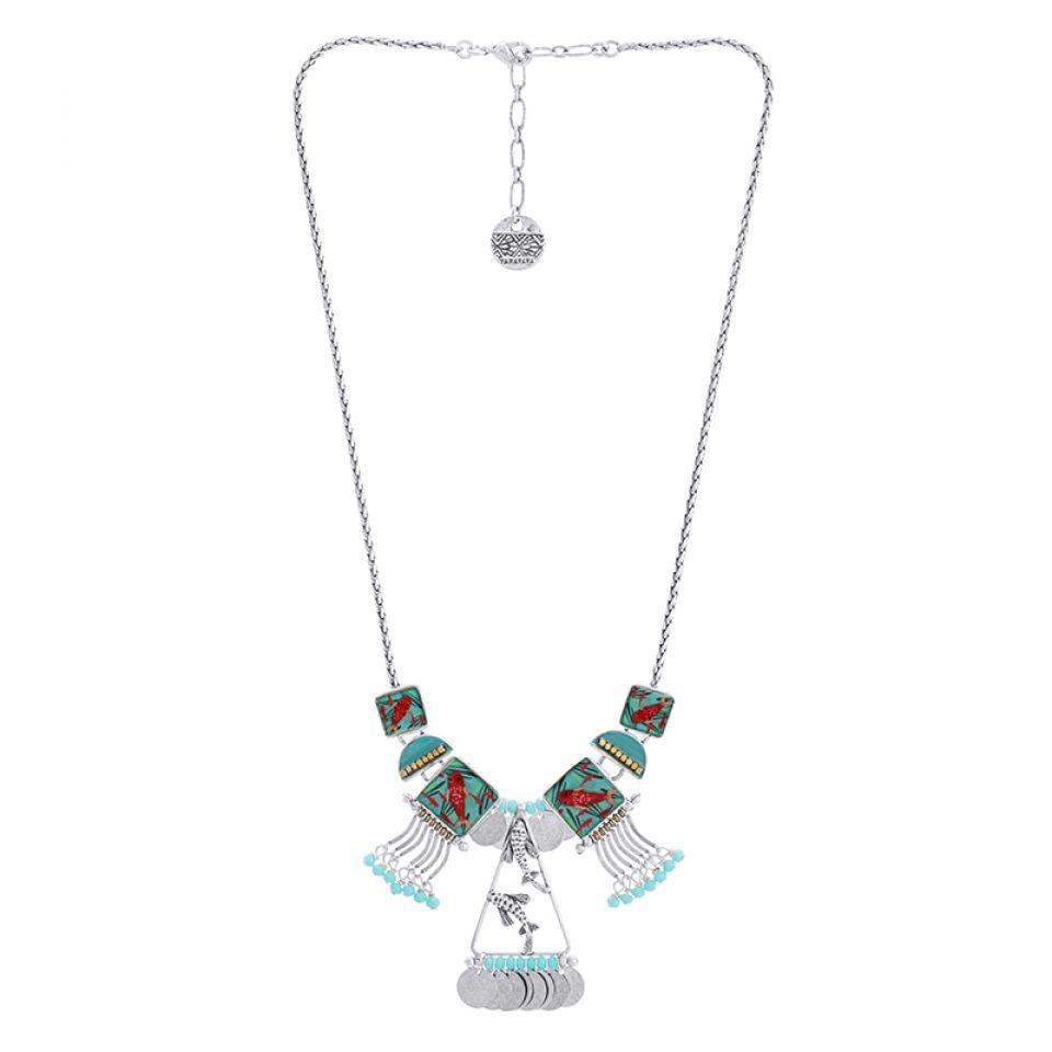 Collier Zigzag Argente Bleu Taratata Bijoux Fantaisie en ligne 3