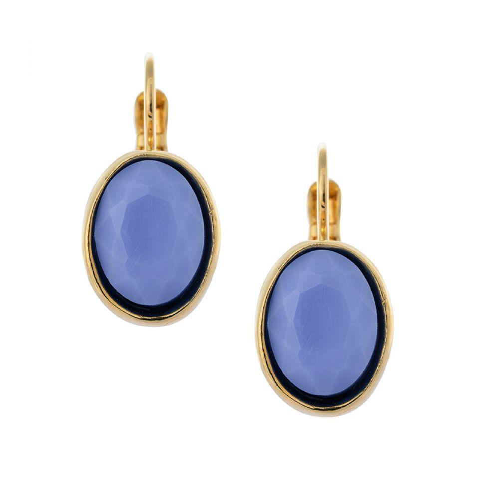 Dormeuses Arc-en-ciel Dore Bleu Taratata Bijoux Fantaisie en ligne 1