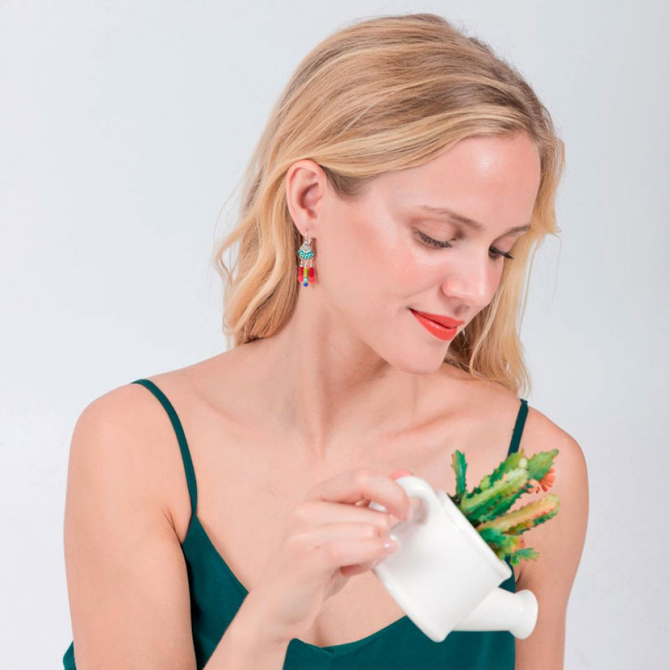 Dormeuses Bisou Argent Multi Taratata Bijoux Fantaisie en ligne 2