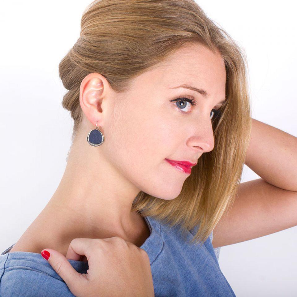 Dormeuses Chloe Argent Multi Taratata Bijoux Fantaisie en ligne 2