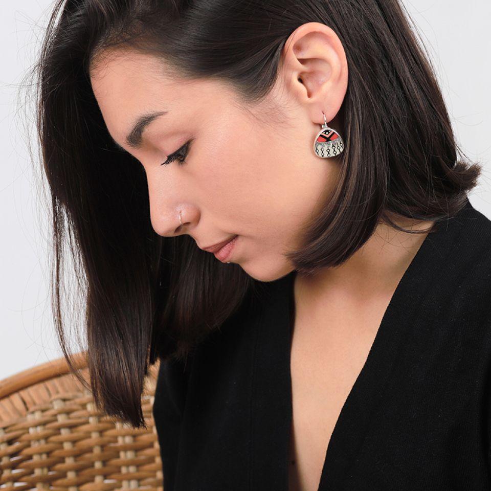 Dormeuses Equivoque Argent Multi Taratata Bijoux Fantaisie en ligne 2