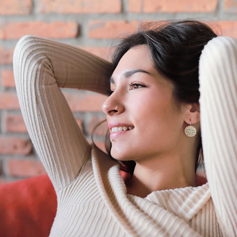 Dormeuses Gina Argent Multi Taratata Bijoux Fantaisie en ligne 2