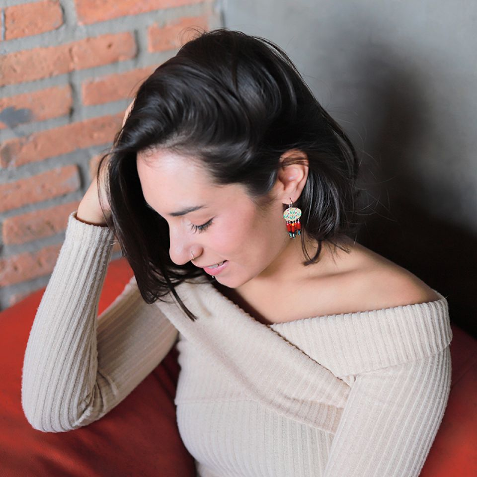Dormeuses Gina Argent Rouge Taratata Bijoux Fantaisie en ligne 1