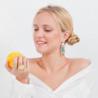 Dormeuses Lemon Argent Multi