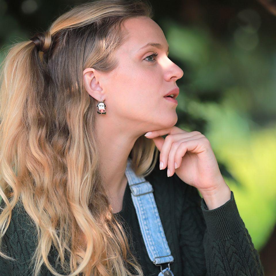 Dormeuses Marguerite Argent Multi Taratata Bijoux Fantaisie en ligne 2
