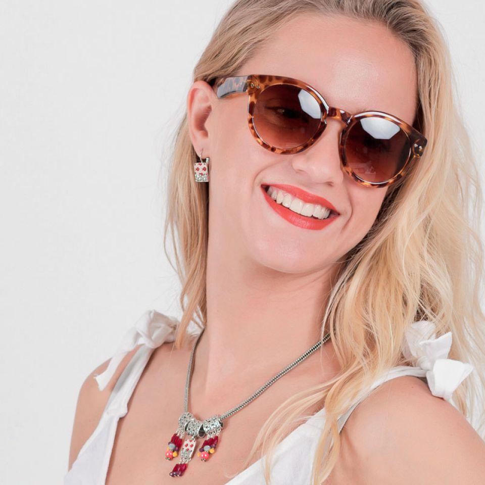 Dormeuses Ravissante Argent Rouge Taratata Bijoux Fantaisie en ligne 2