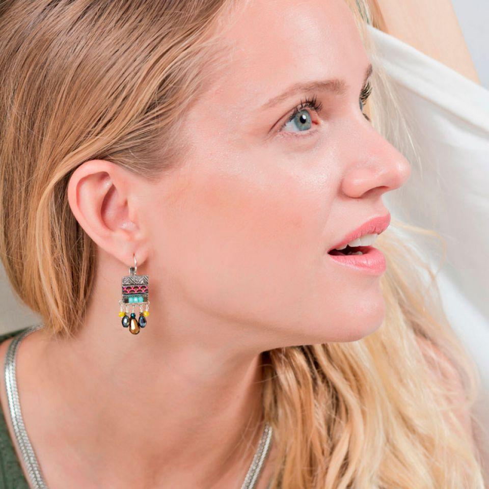 Dormeuses Reglisse Argent Multi Taratata Bijoux Fantaisie en ligne 2