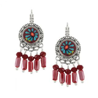 Dormeuses Ruby Argent Rouge