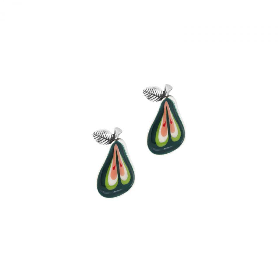 Puces Bonbon Argent Vert Taratata Bijoux Fantaisie en ligne 1