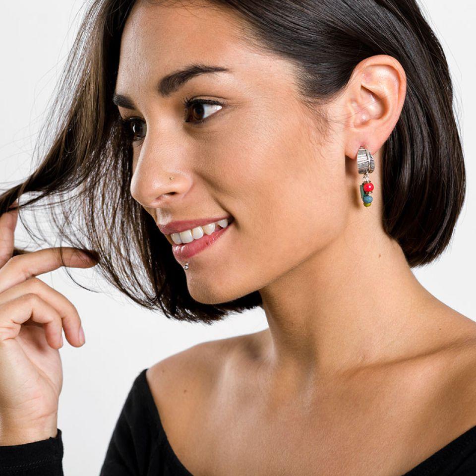Puces Charme Argent Multi Taratata Bijoux Fantaisie en ligne 2