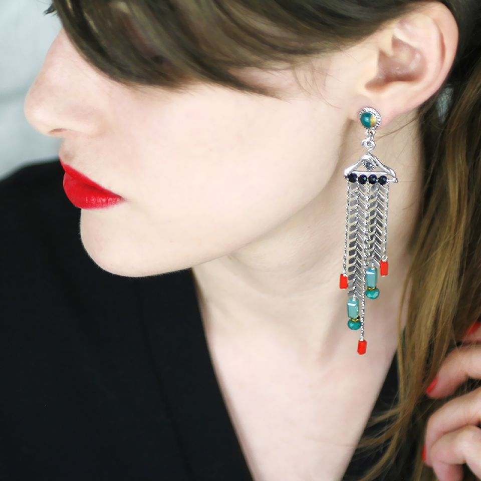 Puces Dressing Argent Multi Taratata Bijoux Fantaisie en ligne 1