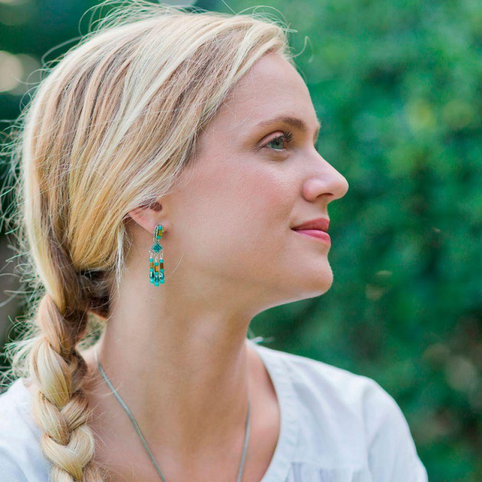 Puces Esperanza Argent Bleu Taratata Bijoux Fantaisie en ligne 2