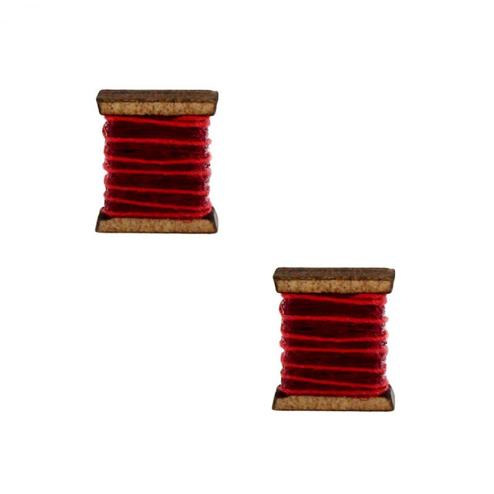Puces La Boutonniere Argent Rouge Taratata Bijoux Fantaisie en ligne 1
