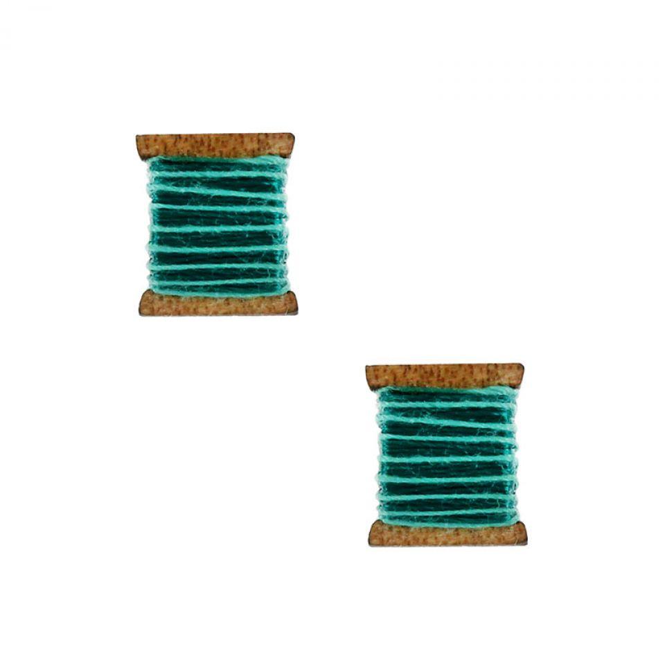 Puces La Boutonniere Argent Bleu Taratata Bijoux Fantaisie en ligne 1