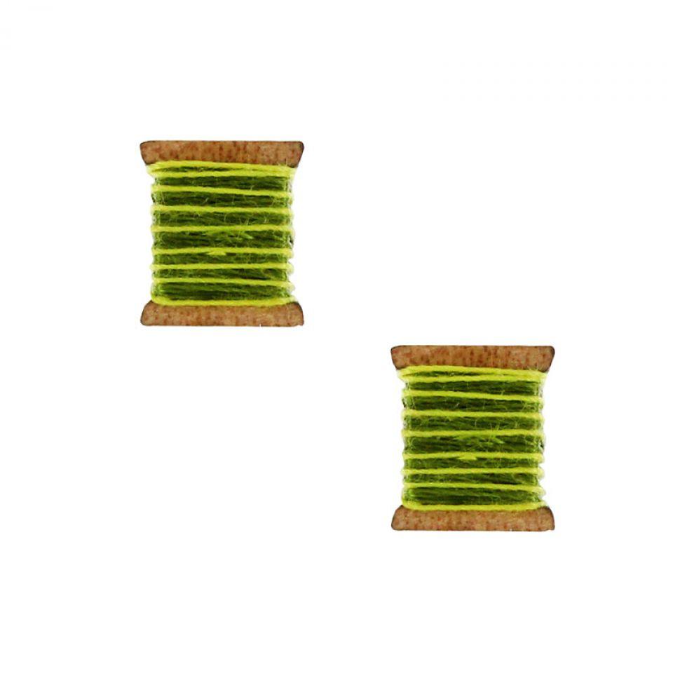 Puces La Boutonniere Argent Vert Taratata Bijoux Fantaisie en ligne 1