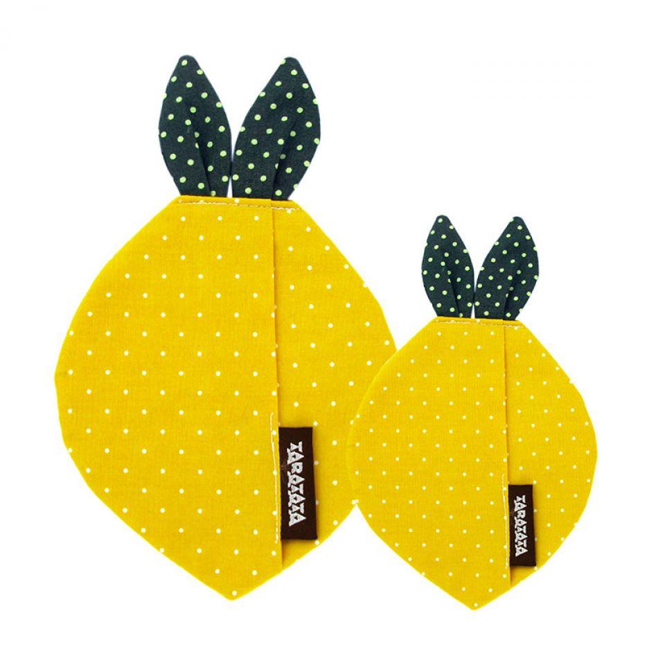 Puces Lemon Argent Jaune Taratata Bijoux Fantaisie en ligne 3