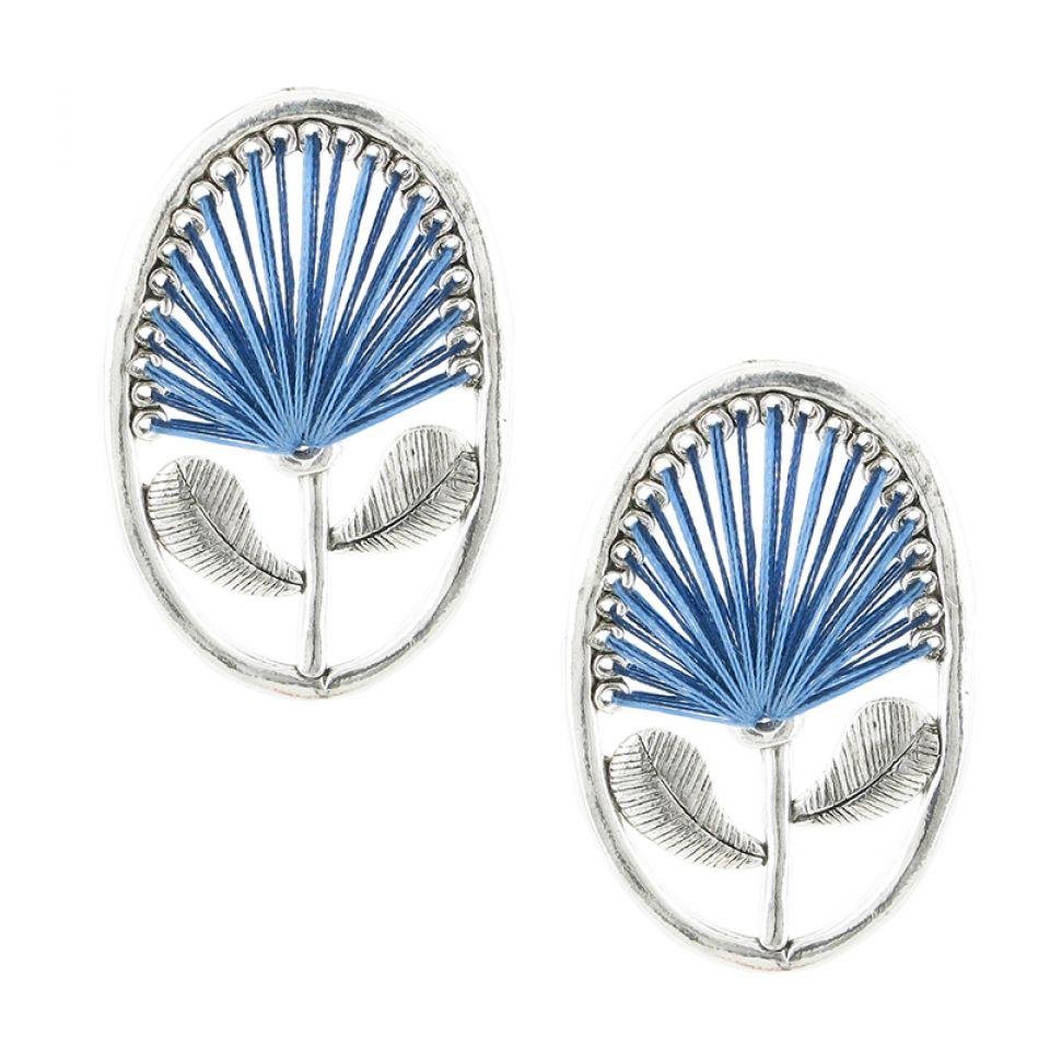 Puces Lotus Bleu Taratata Bijoux Fantaisie en ligne 1