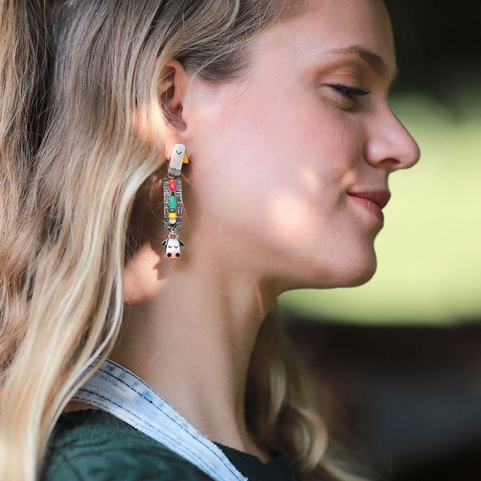 Puces Marguerite Argent Multi Taratata Bijoux Fantaisie en ligne 2