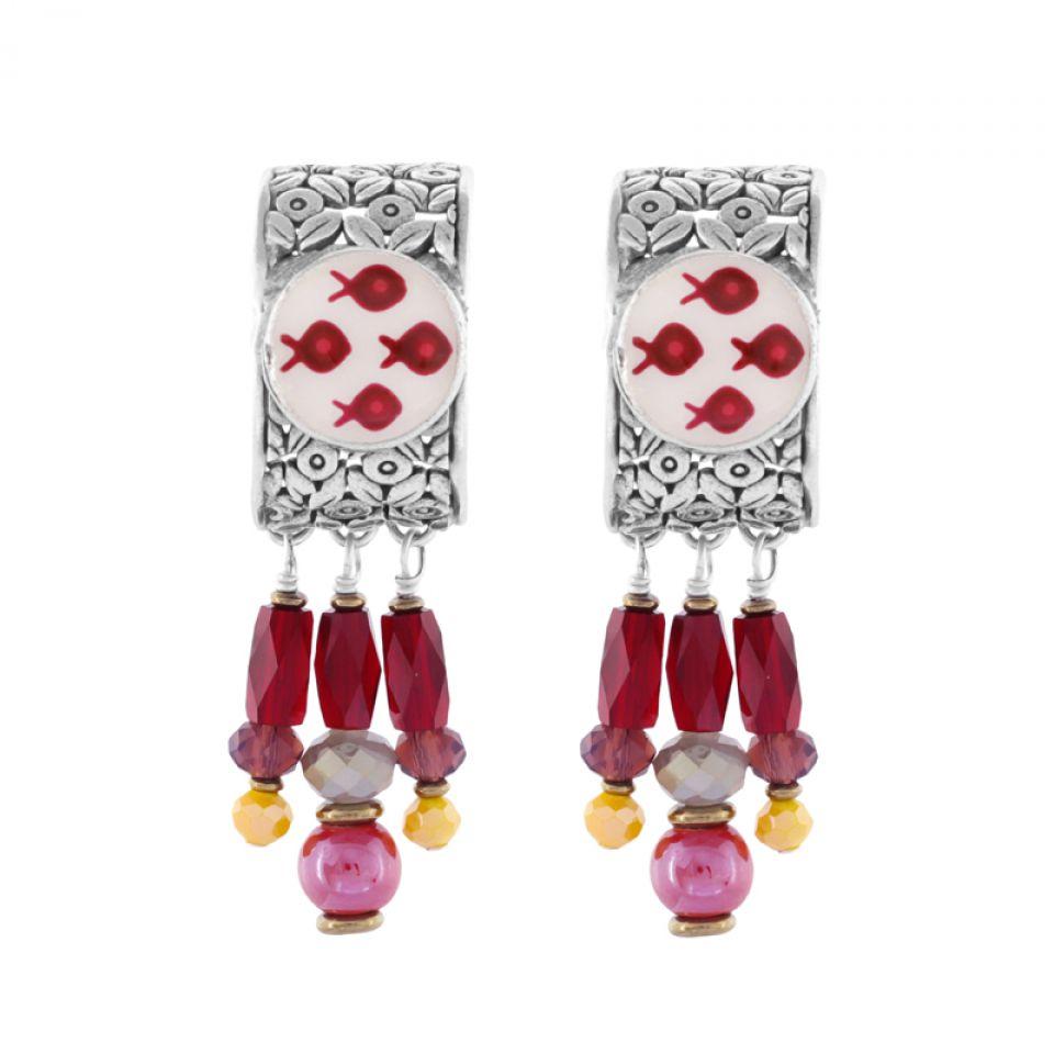 Puces Ravissante Argent Rouge Taratata Bijoux Fantaisie en ligne 3