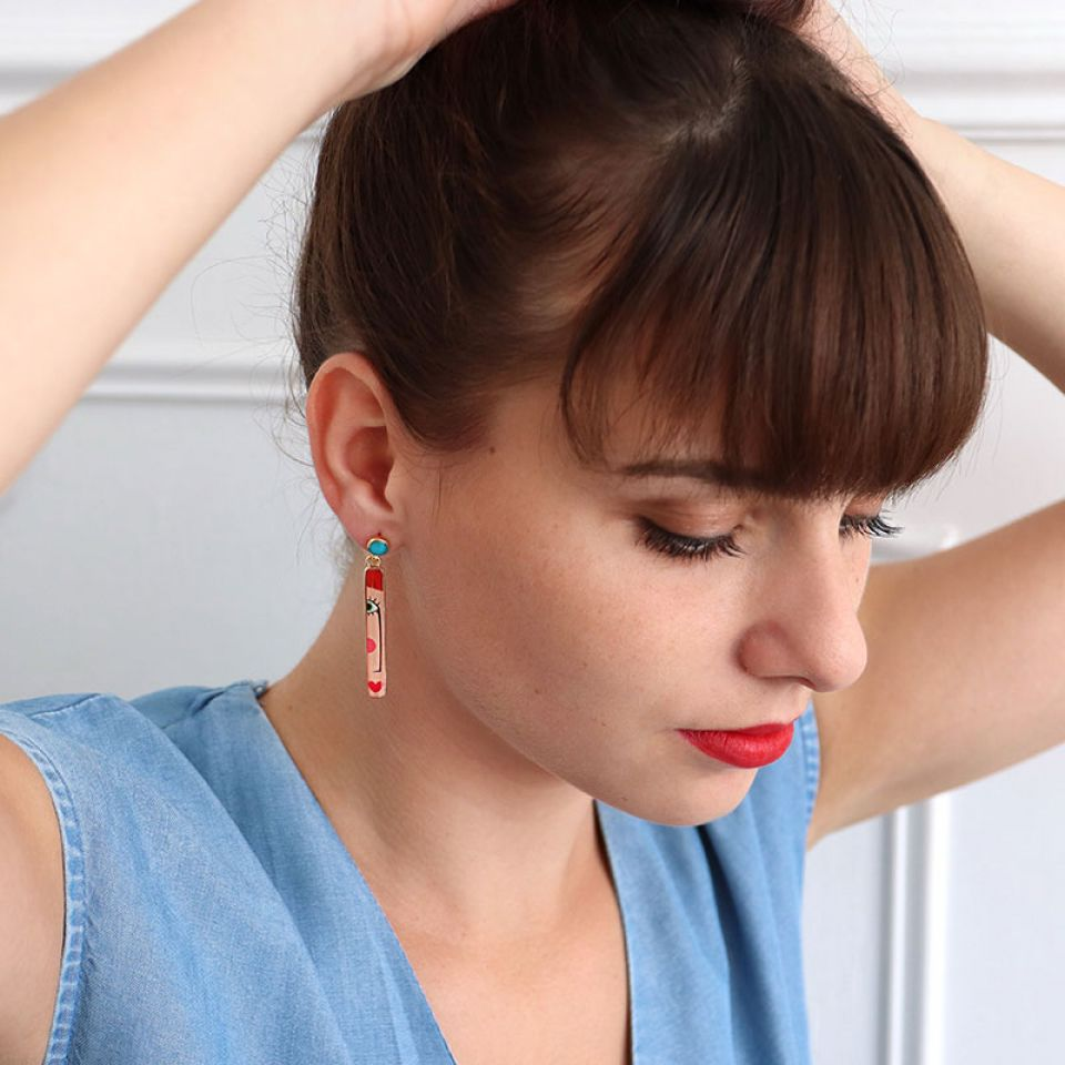 Puces Regard Couleur Dore Multi Taratata Bijoux Fantaisie en ligne 2