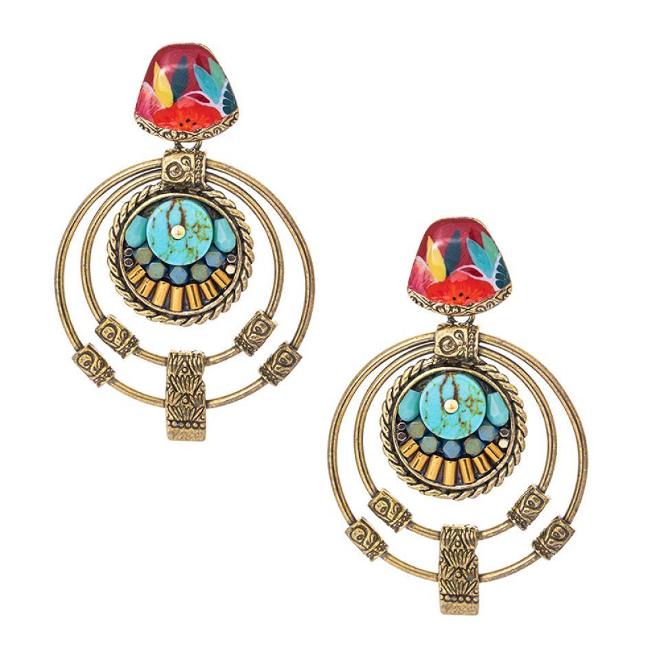 Puces Sombrero Bronze Multi Taratata Bijoux Fantaisie en ligne 1